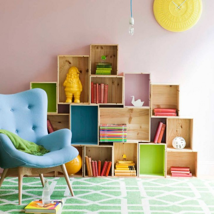 6 boxes shelves for kids bedrooms petit small. Black Bedroom Furniture Sets. Home Design Ideas