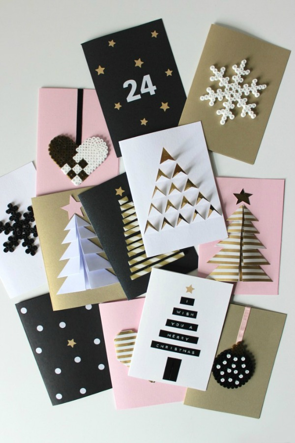 Easy diy christmas cards christmas lights card and decore for Easy diy christmas cards