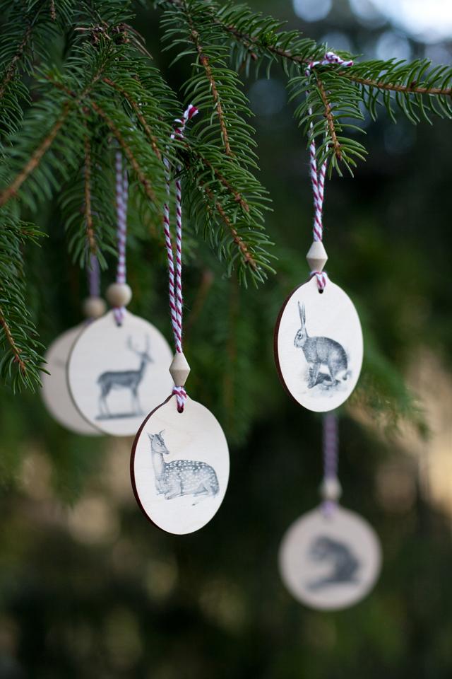 DIY Woodland Animal Ornaments