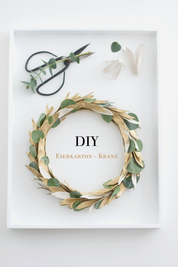 DIY upcycled egg carton wreath