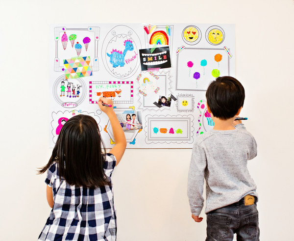 Lets your Kids Draw on the Wall!