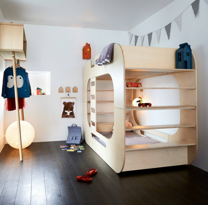 Loft bunk beds petit small for Cool furniture for kids