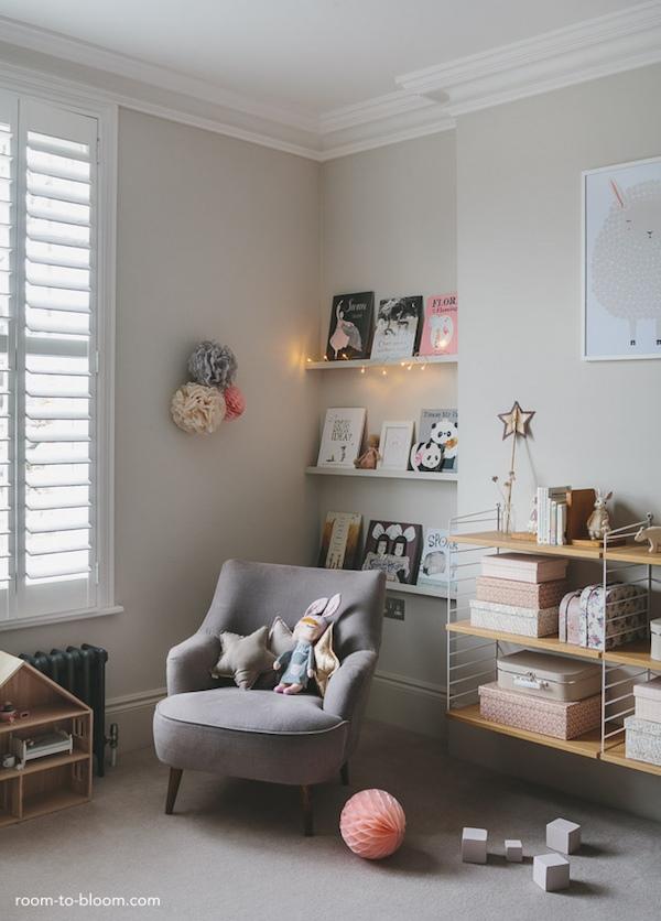 grey girls bedroom interior design charlotte2