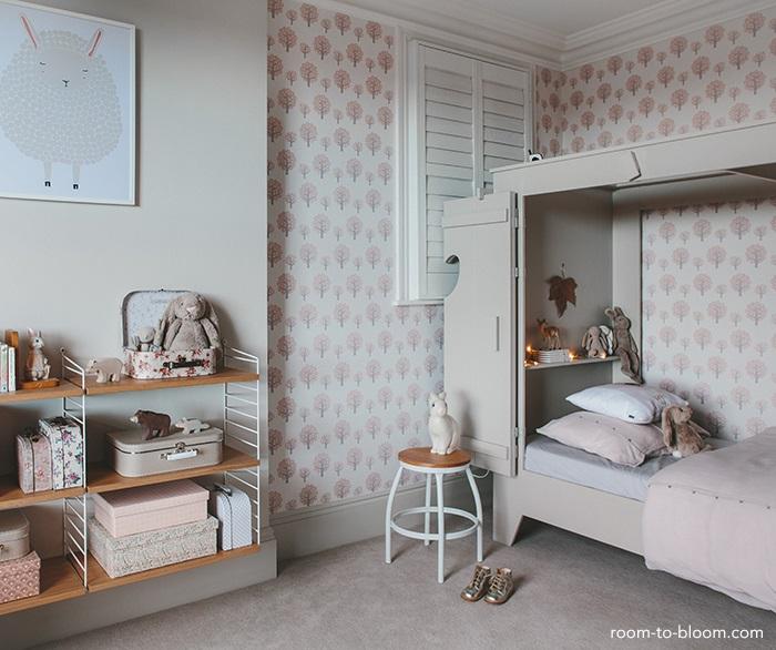 grey girls bedroom interior design charlotte8