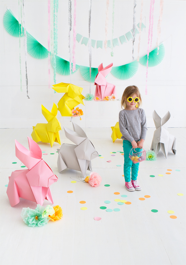 diy-giant-origami-bunnies
