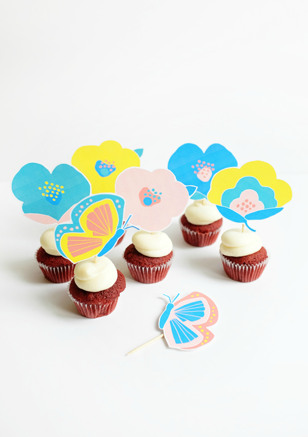 floral-cupcake-toppers