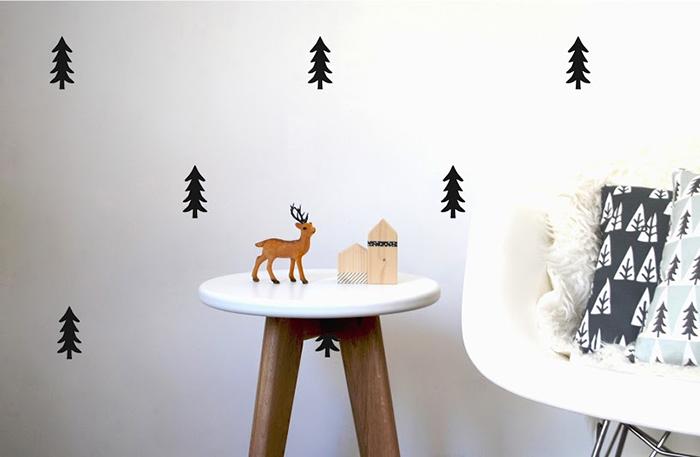 Wall Stickers Pine Tree Black 700 - Pom Le Bonhomme
