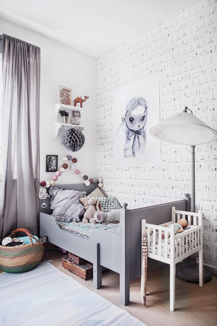Vintage Grey Kids Room