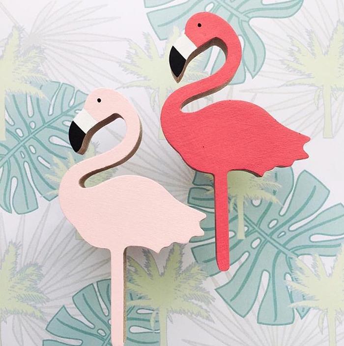 Flamingo Wall Hook by Hello Knobbly