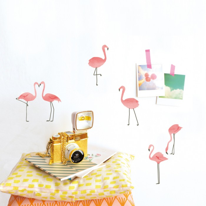 Just a Touch Flamingos' Wall Stickers by Mimi'lou