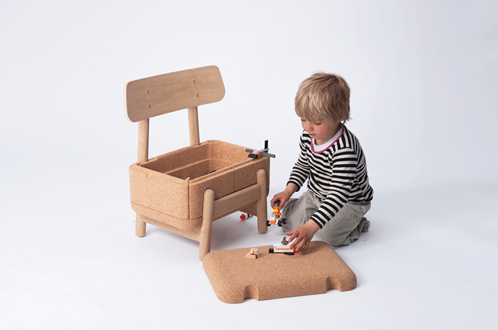 Playful, Multifunctional Children's Chair with Storage