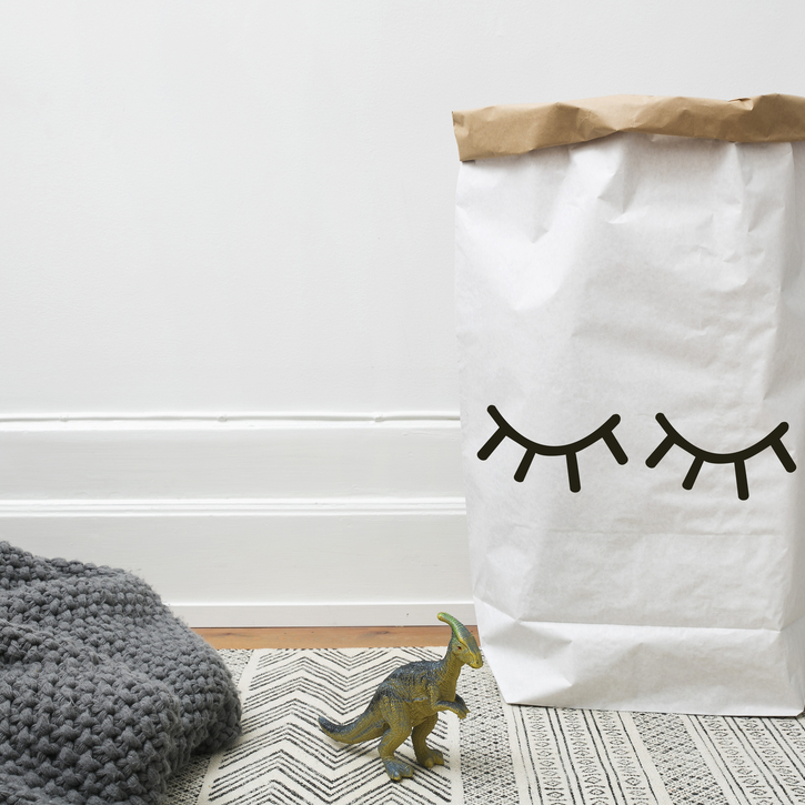 Eyes Closed Paper Storage Bag - Tellkiddo