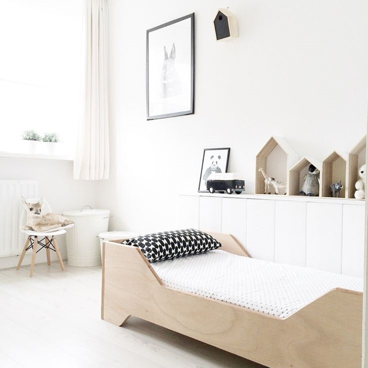 bright white and minimal kids rooms petit small