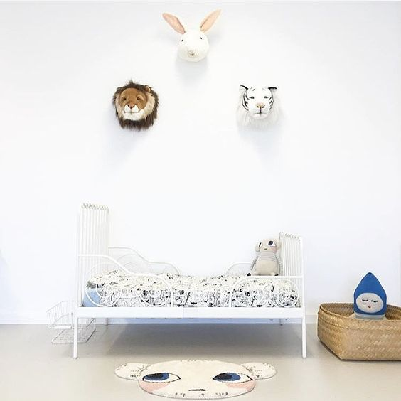 Bright White And Minimal Kids Rooms