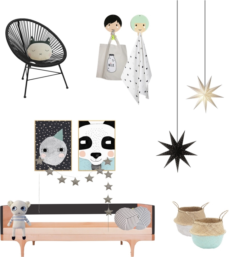 Moodboard: Monochrome with a splash of soft blue