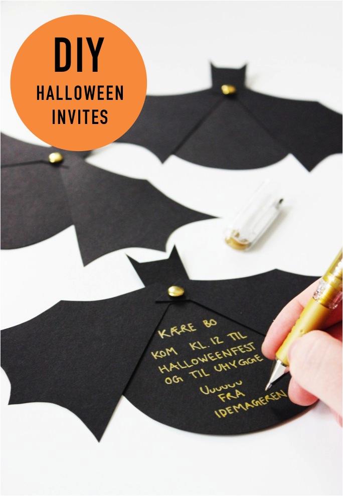 diy halloween bat invitations