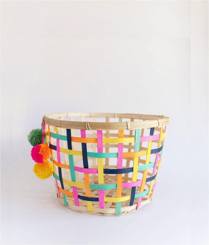 ikea hack painted baskets for toy storage