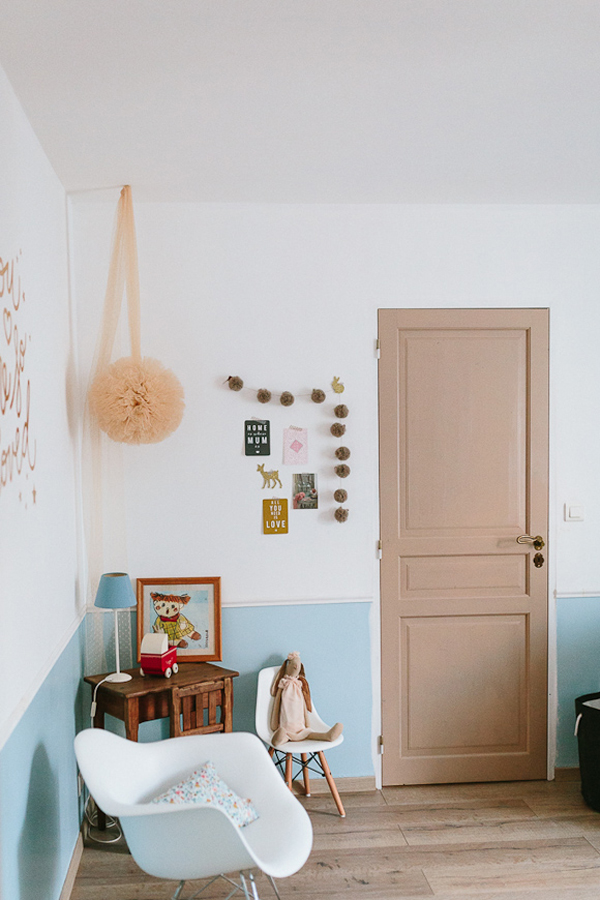 Vintage Baby Girl's Room with Soft Tones