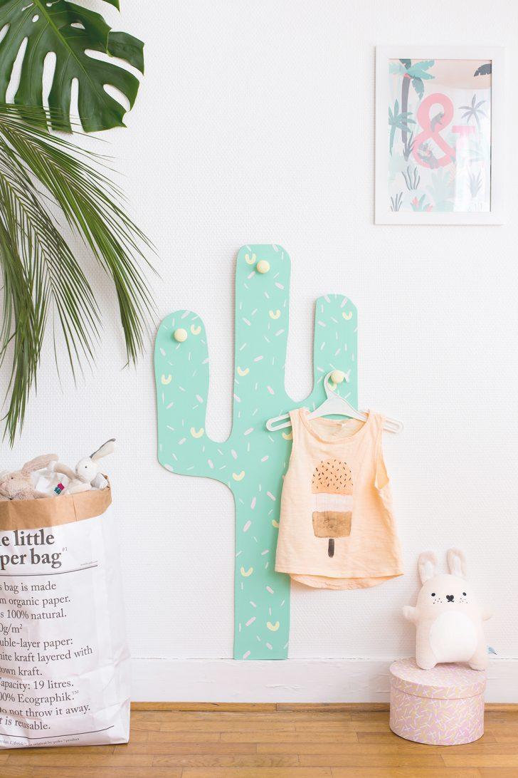 DIY cactus coat hook