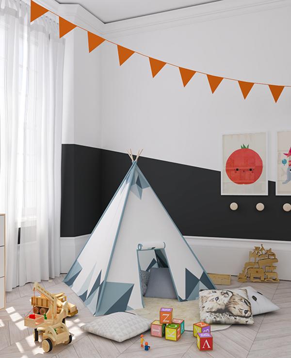 eclectic-orange-black-kids-room1