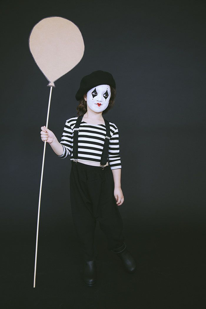 Scary Mime Face