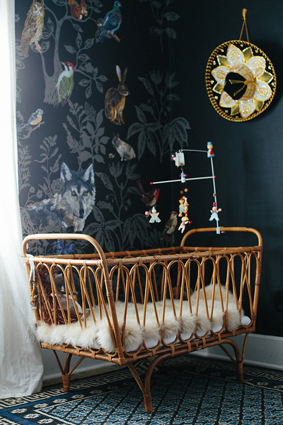 modern-bohemian-boys-nursery-black-walls