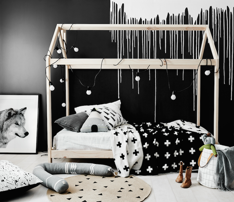 Dark, moody and magical kids rooms