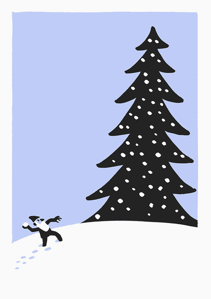 christoph-niemann-christmas-cards-maammo_tree - Petit & Small