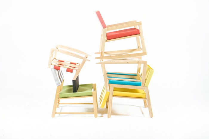 Toldina, Playful Chairs Inspired by Sunshades