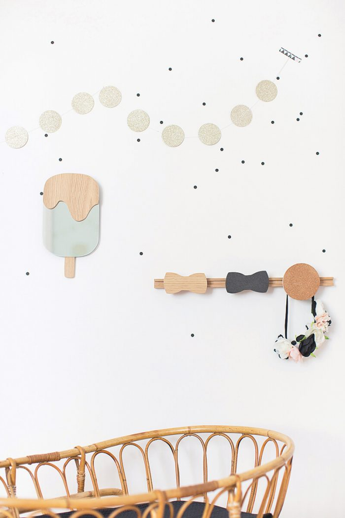 Children's Wall Hooks in Scandinavian Style (and a touch od fun)