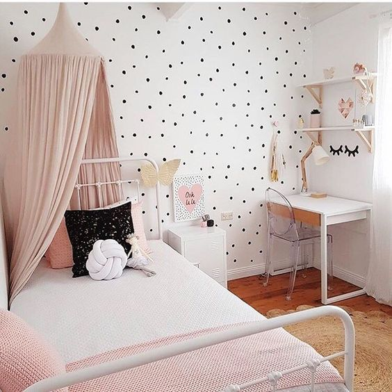 Small Kids Room Ideas: Polka Dot Kids' Room Design Ideas