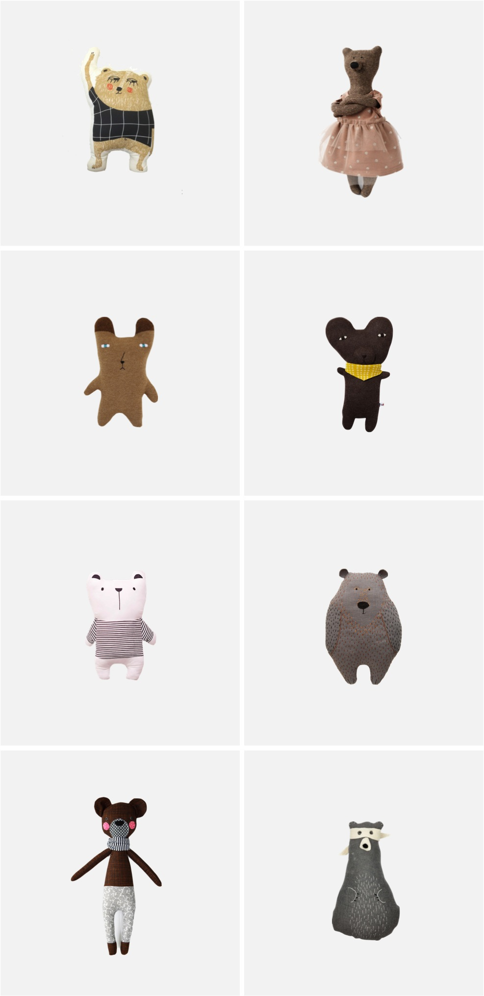 The Cutest (and Coolest) Bear Softies for Kids