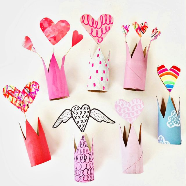 RECYCLED-VALENTINE-PAPER-TUBE-CROWNS