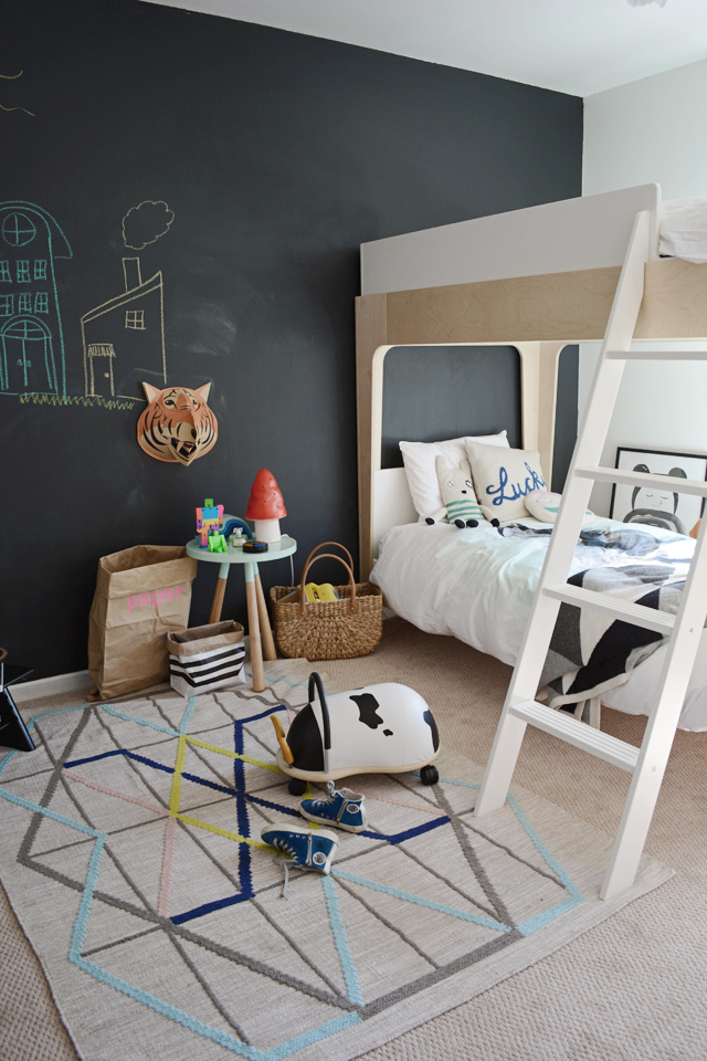 Chalboard walls for kids rooms