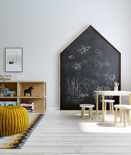 Fun ways to create a chalkboard wall in a kids room ...