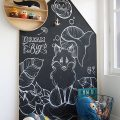 Play area with a blackboard