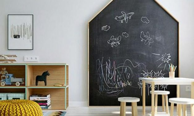 Fun ways to create a chalkboard wall in a kids room