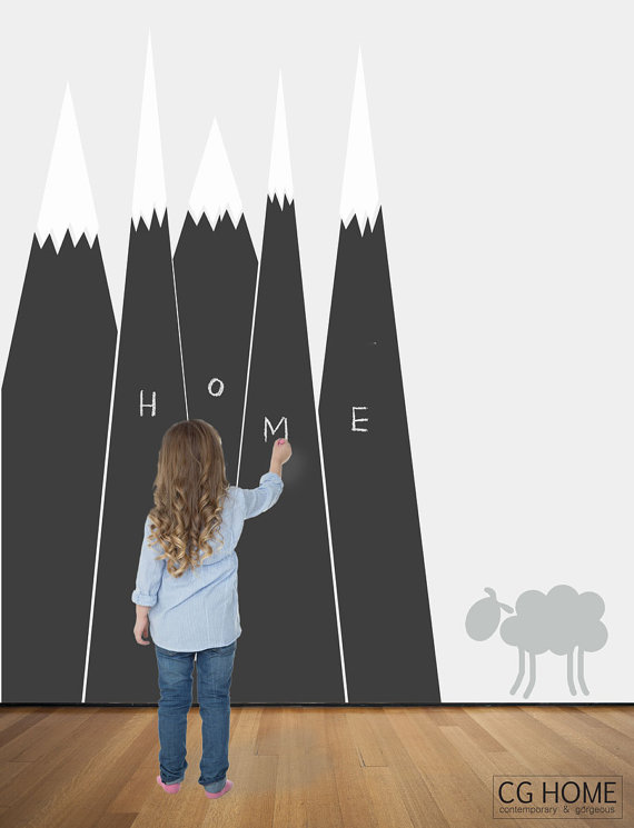 Lastly, If You Want A Quick And Easy Way To Add A Chalkboard Wall To Your Kids  Room, Get Some Large Chalkboard Stickers And Stick Them Up.