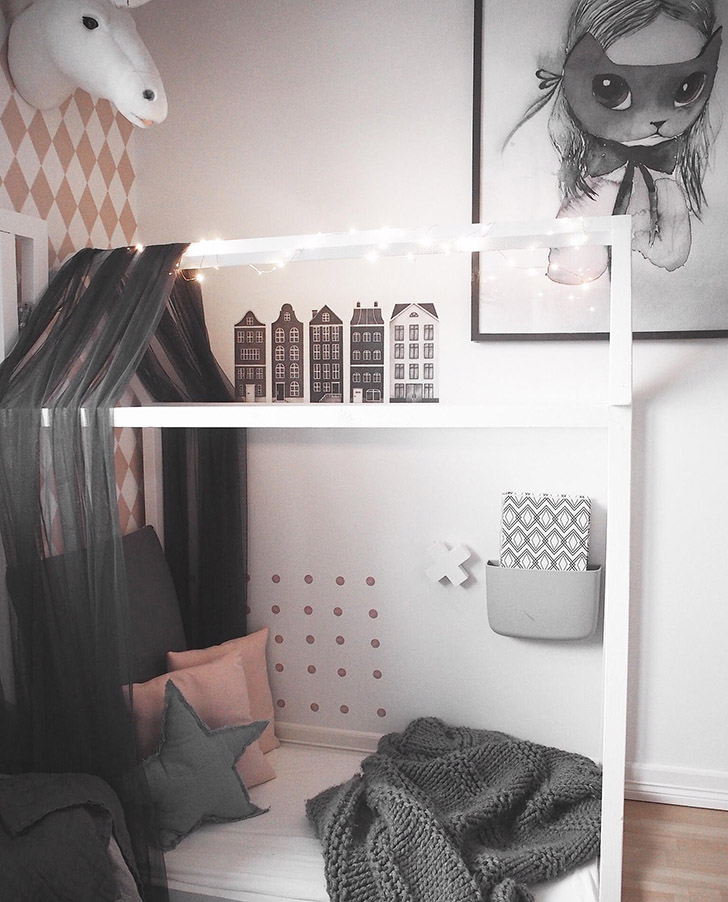 Scandinavian Style Kids Room: The Sweetest Girl's Nordic Room From Instagram