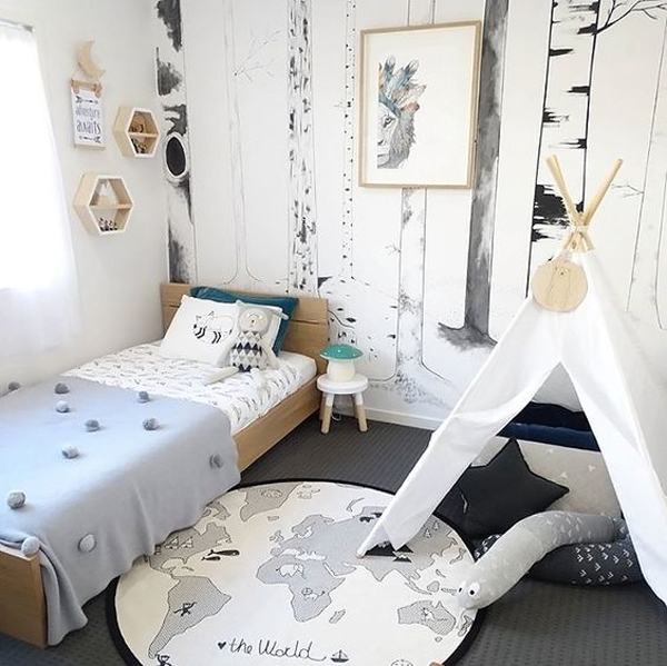 Rooms for adventurous and traveller kids petit small Cute kid room ideas