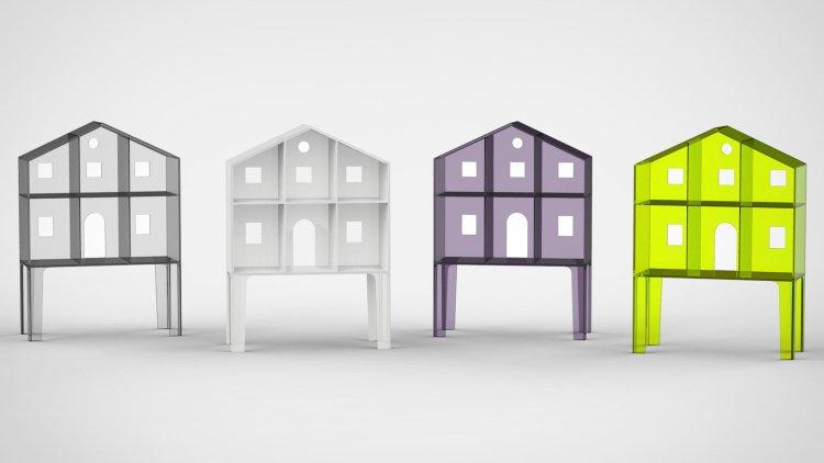 Ultra-minimal Villa Doll's Houses by Kartell