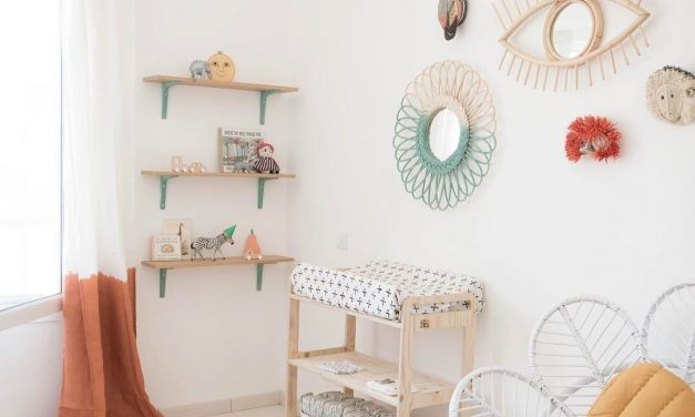 A Beautiful Nursery with Boho Chic Charm