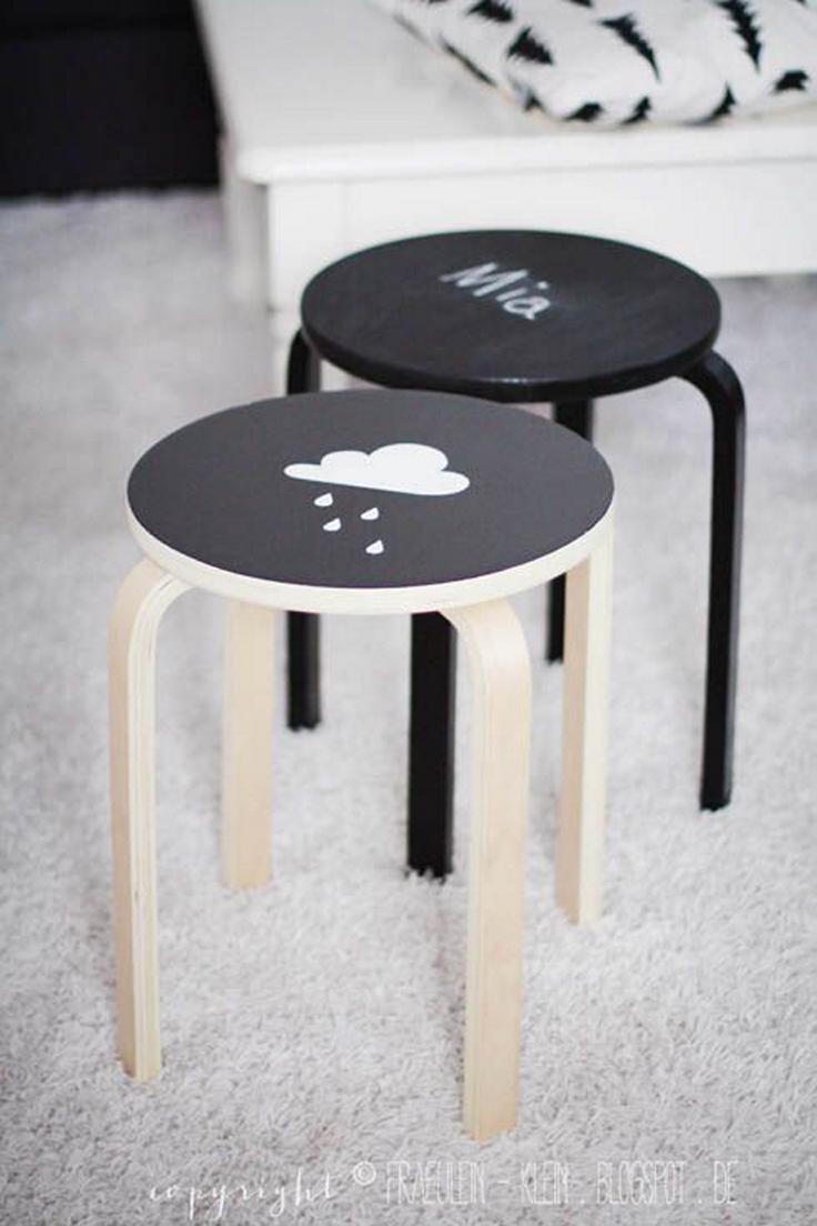 ikea-hack-frosta-stool-chalkboard-paint
