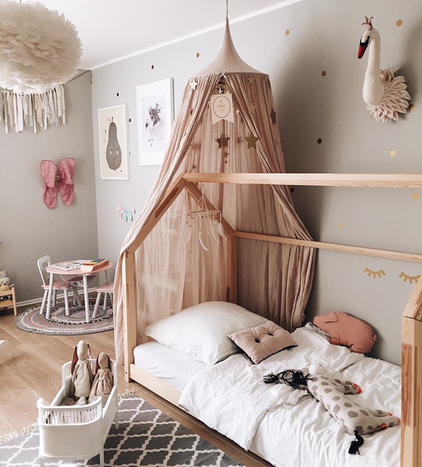 In This Room We Have Lots Of Pink Many Diffe Shades From The Palest Dusty Pinks To Brighter Accents It S All Set Against Pale Grey Walls And A