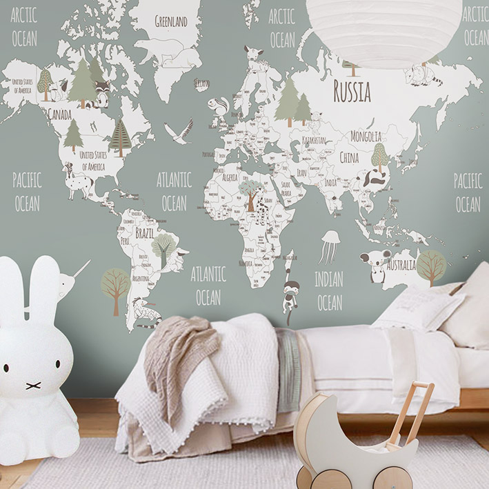 Little hands wallpaper bring magic into your kids room for Kids room wall paper
