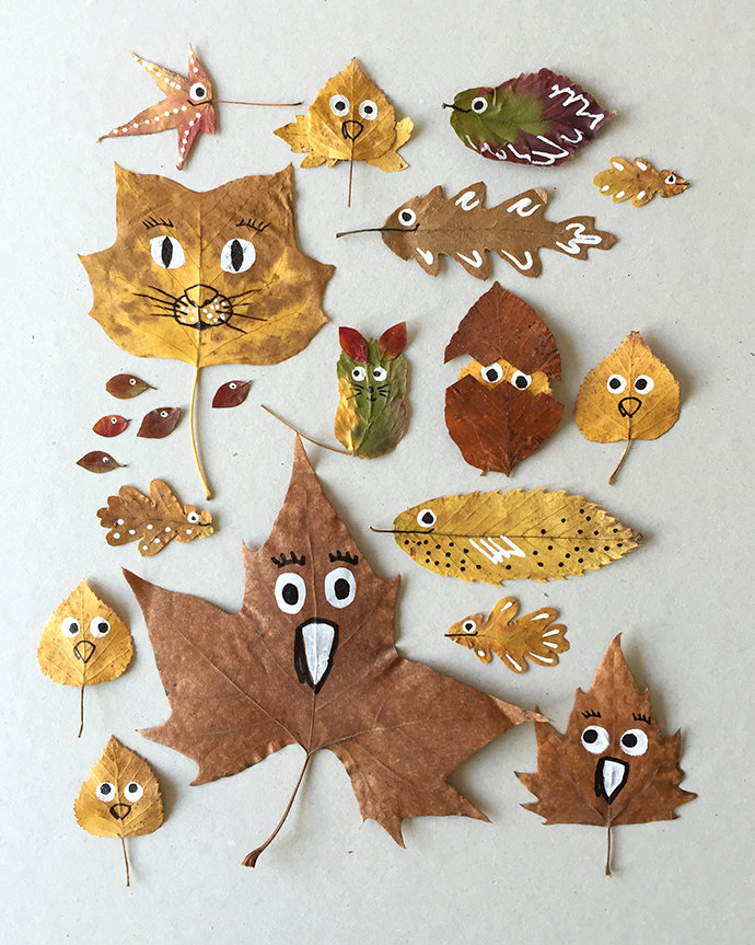6 Fun Leaf Crafts To Try This Autumn Petit Small