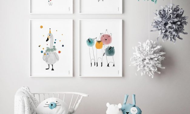 Whimsical party animal posters to brighten up any room