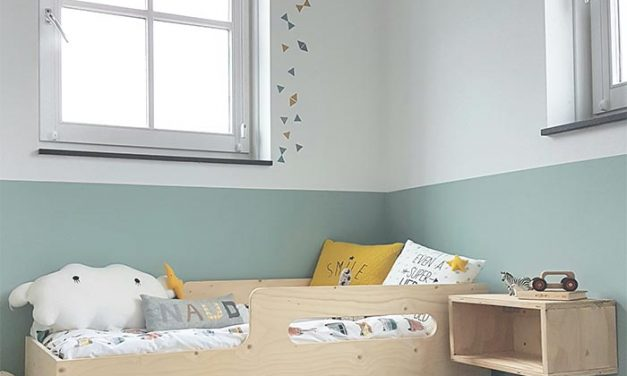 Relaxing Mint and White Kids' Room