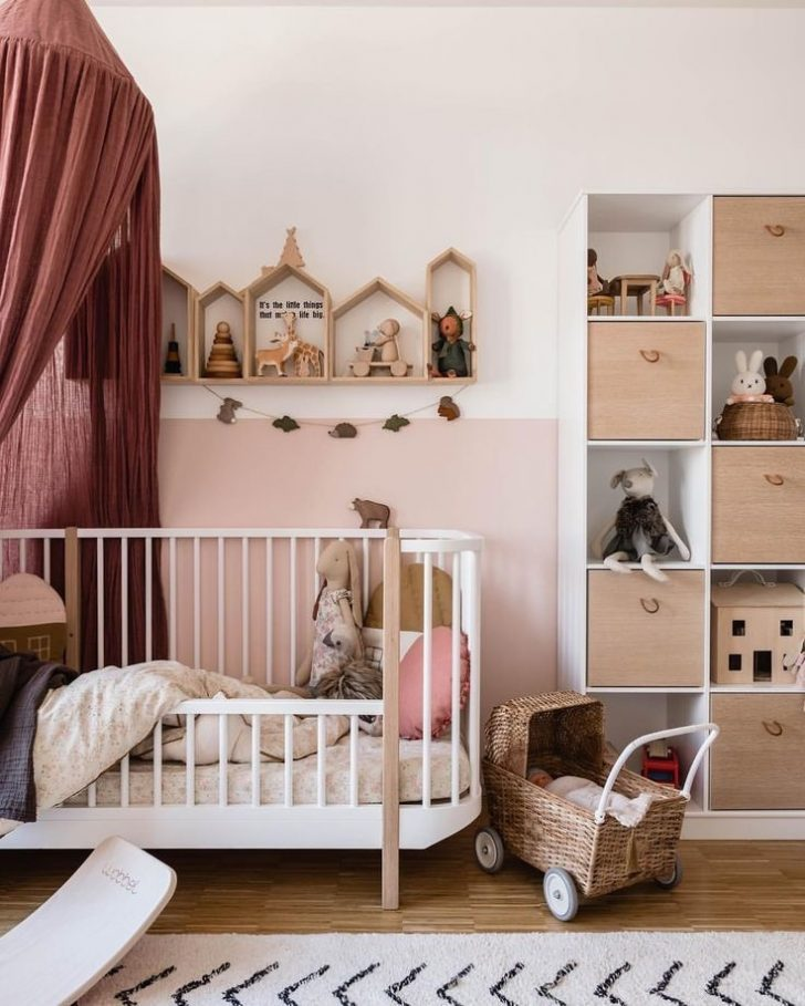 Simple nursey with sustainable furniture