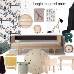 Jungle inspired mood board
